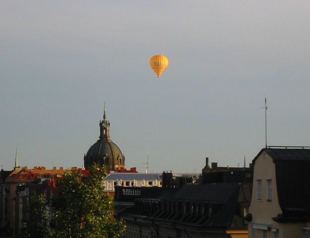 Balloon over Stockholm