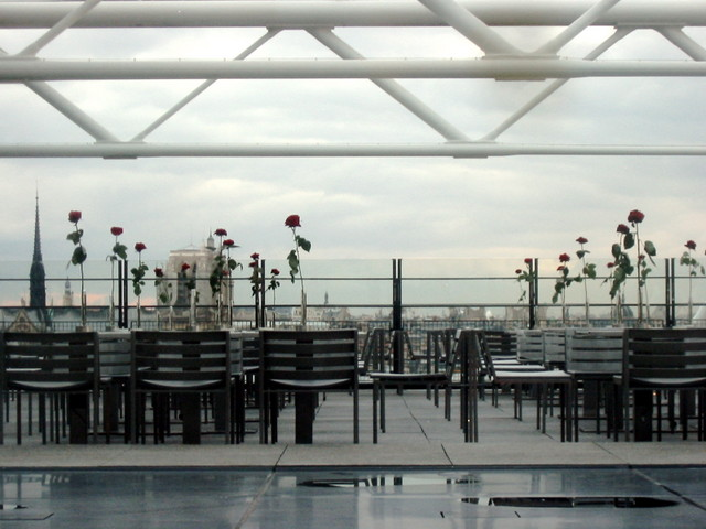 Rooftop cafe at the Pompidou