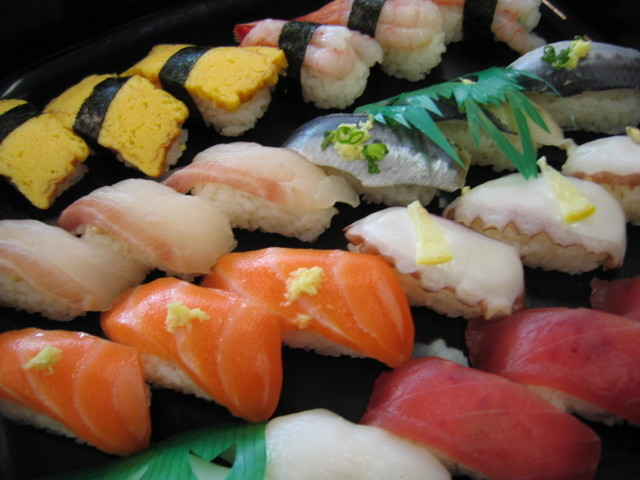 Sushi cuboidal photos for Is sushi raw fish