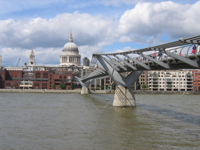 Millenium Bridge and St James