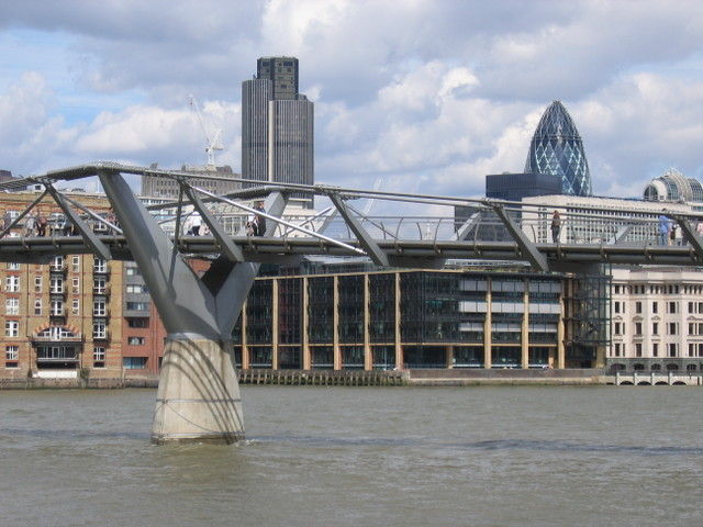 Millenium Bridge and Swiss Re